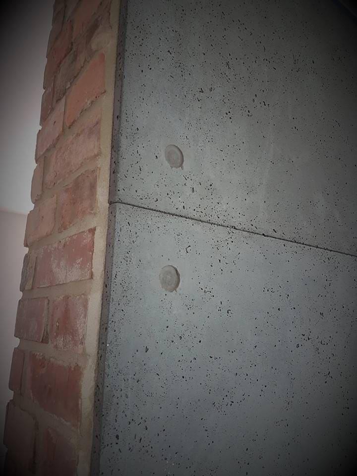 płyta beton architektoniczny kominek cegla pmdesign - PM Design - Beton architektoniczny i metal