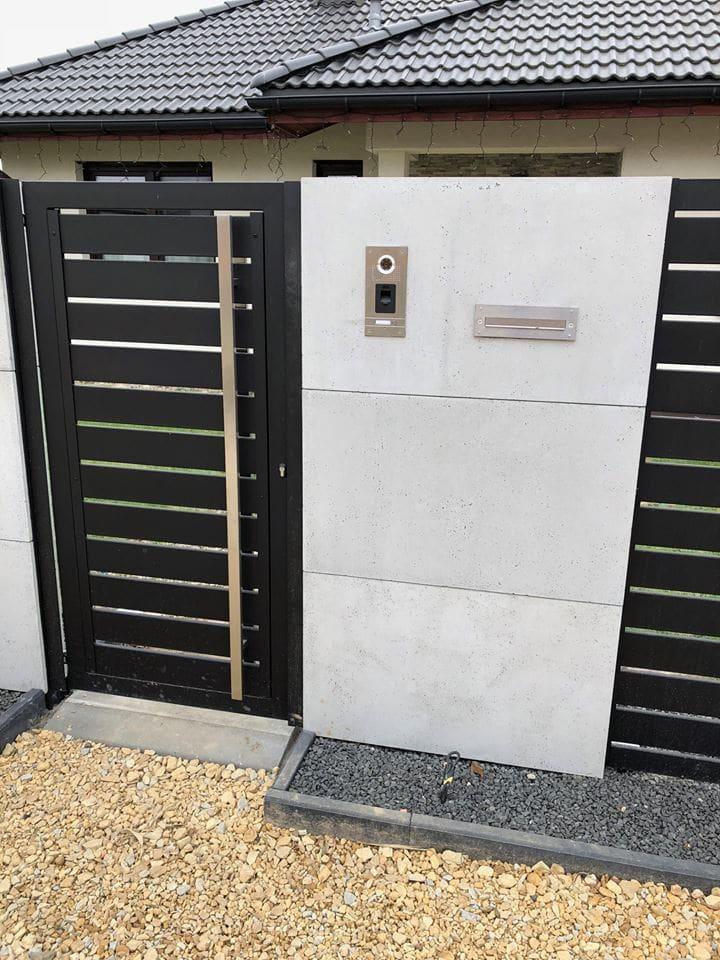 płyty betonowe ogrodzenie1 pmdesign - Realizacje