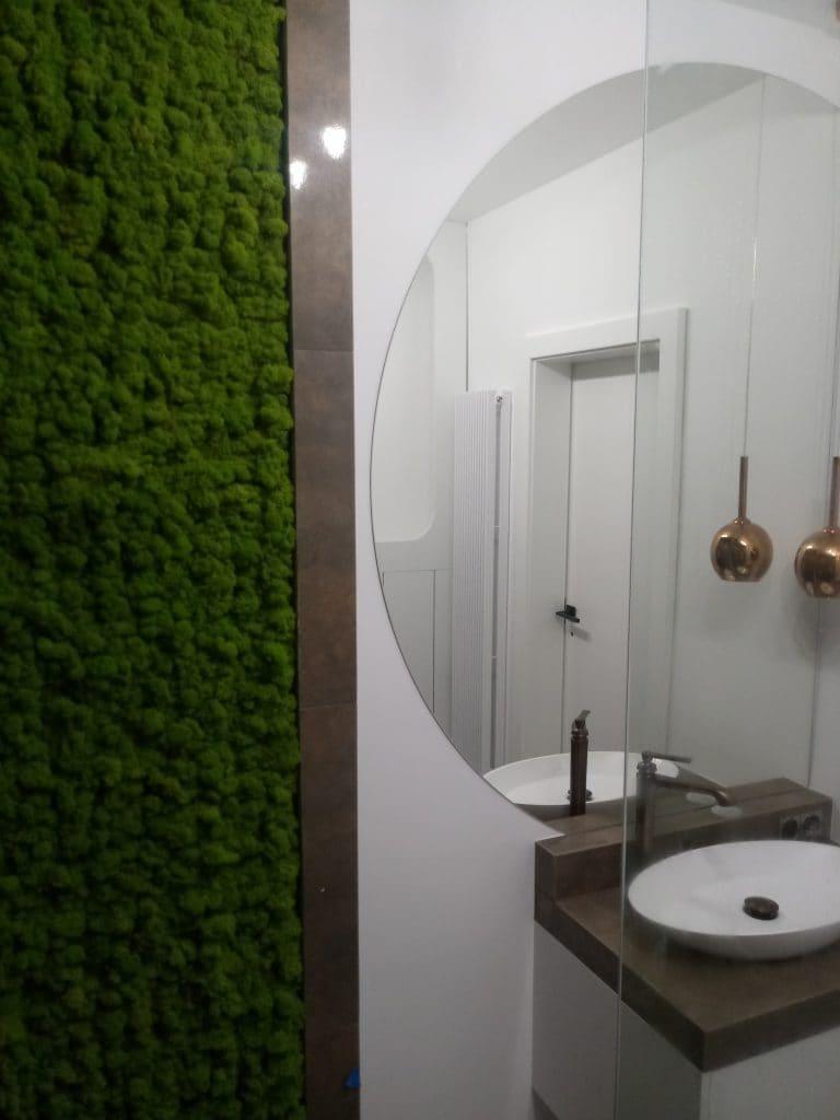realizacja PMdesign chrobotek reniferowy, panel łazienka