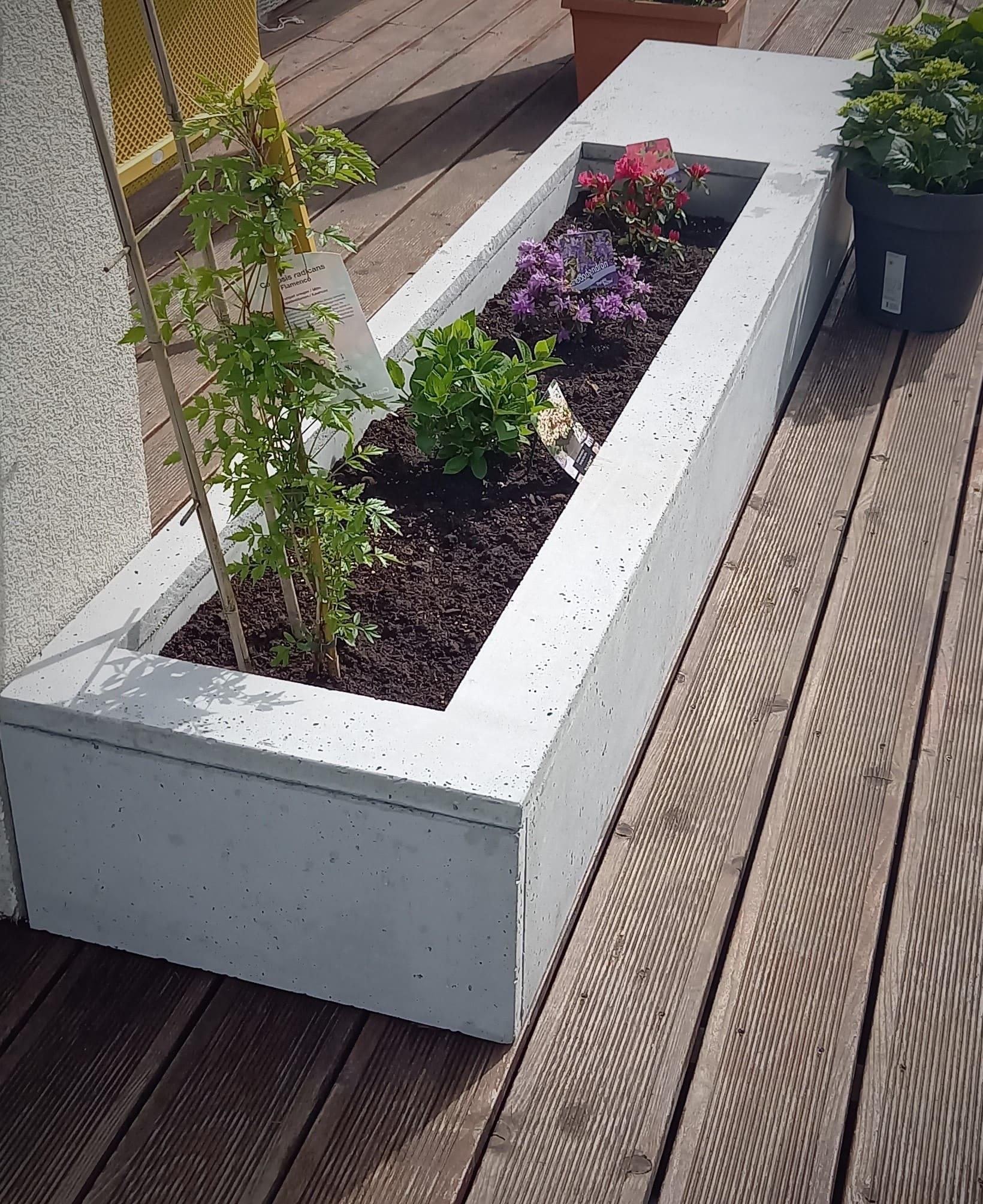 donica z betonu architektonicznego z plyt pmdesign - Donice betonowe